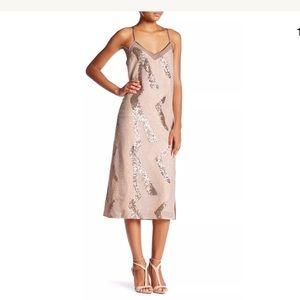ABS By Allen Schwartz Sequin Slip Dress